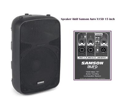 Harga Speaker Aktif Samson Auro X15D 15 Inch