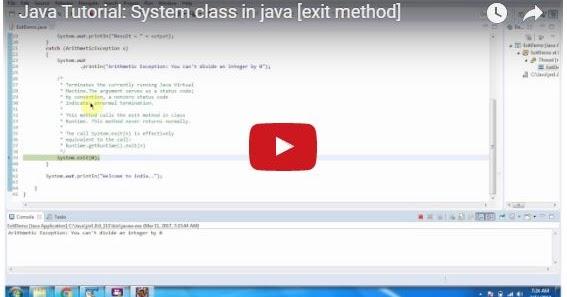 Java ee java tutorial system class in java exit method for Pool design pattern java