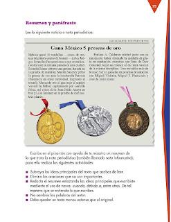 Apoyo Primaria Formación Español 3ro. Grado Bloque III Lección 9 Practica social del lenguaje 9, Difundir noticias sobre sucesos en la comunidad
