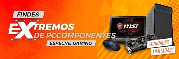 10 mejores ofertas promoción Findes eXtremos (especial gaming) de PCComponentes