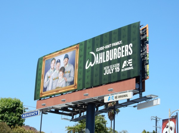 Wahlburgers 4 close knit family billboard