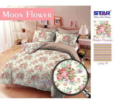 Moon Flower Sprei Motif Dewasa dari star
