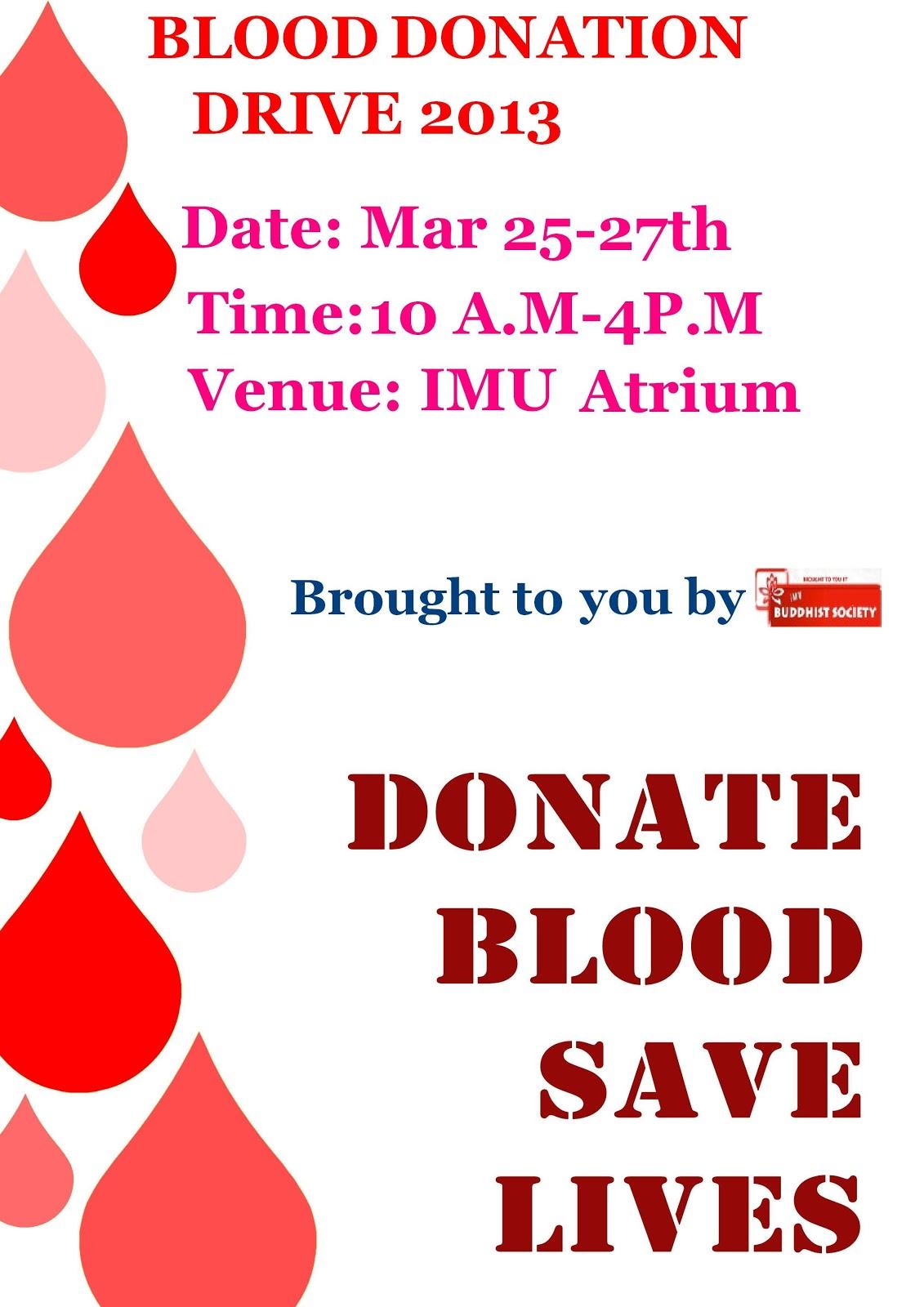 Christmas Blood Donation Drive.Imu Buddhist Society Blood Donation Drive 2013