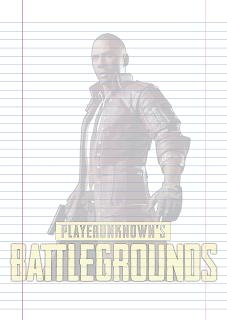 Folha Papel Pautado Battlegrounds modelo 8 PDF para imprimir folha A4