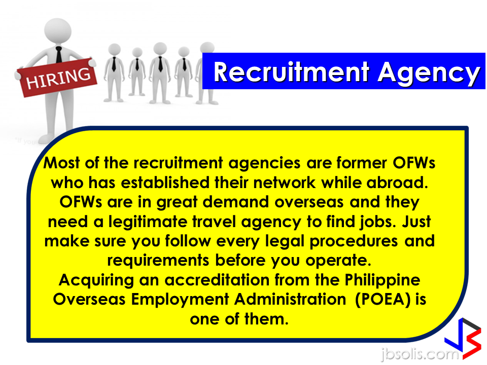 "Before an OFW can return to the Philippines for good, a lot of considerations should be made, one of which is that ""If I decided to go home for good, will I be able to sustain my family's financial needs?"" Financial stability is one of the reason why the OFWs  decided to work abroad. You will often hear most of the OFWs say: ""A few more years and I will stop working abroad to be able to be with my beloved family..""  Yes, easier said than done. But it can be made possible by proper planning. What you need to do is to think of an investment, a business for example, that you can start to sustain your family that does not require you to work abroad. An ex-OFW who is now a successful businessman in a field he has chosen after working abroad once said that you need to plan for your return for good to the Philippines even before you can actually work abroad. Set your plans and stick to it. Choose a profitable business that suits your talent and resources.   Here are the 10 Investment suggestions for OFWs who wants to go back home for good:  1. Put up a travel agency.  2. Recruitment Agency business.  3. Buy and sell.   4. Online selling or online store   5. Invest in Stock Market   6. Variety store business  7. Food Cart business  8. Venture in Restaurant Franchising   9. Bank Mutual Funds Investing  10. Investing in Real Estate    Consider these suggestions and carefully weigh things for the business investment you are planning to do. Early planning will allow you to properly invest your hard-earned money into a profitable income generator that will allow you earn without leaving your family behind.        75 Sites Closed Down by Saudi Authorities For Selling Fake Goods  The Ministry of Trade and Investment in Saudi Arabia closed more than 75 social media accounts for posting thousands of ads for fake goods in various platforms including Twitter, Facebook, Instagram, and Snapchat.According to the ministry, they took a step to protect  about 1.5 million followers falling victim to these bogus promo items.  ©2017 THOUGHTSKOTO www.jbsolis.com"