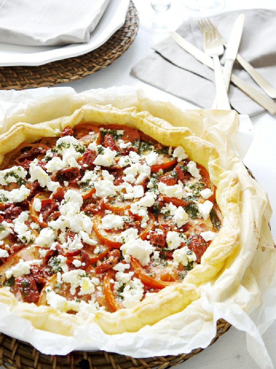 Feta Pesto Tart Recipe