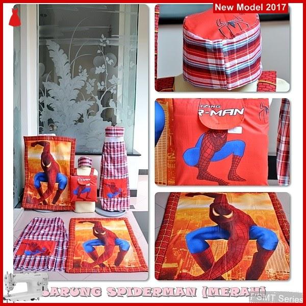 PSMT098A Sarung Anak Merah Size M Gambar Spider