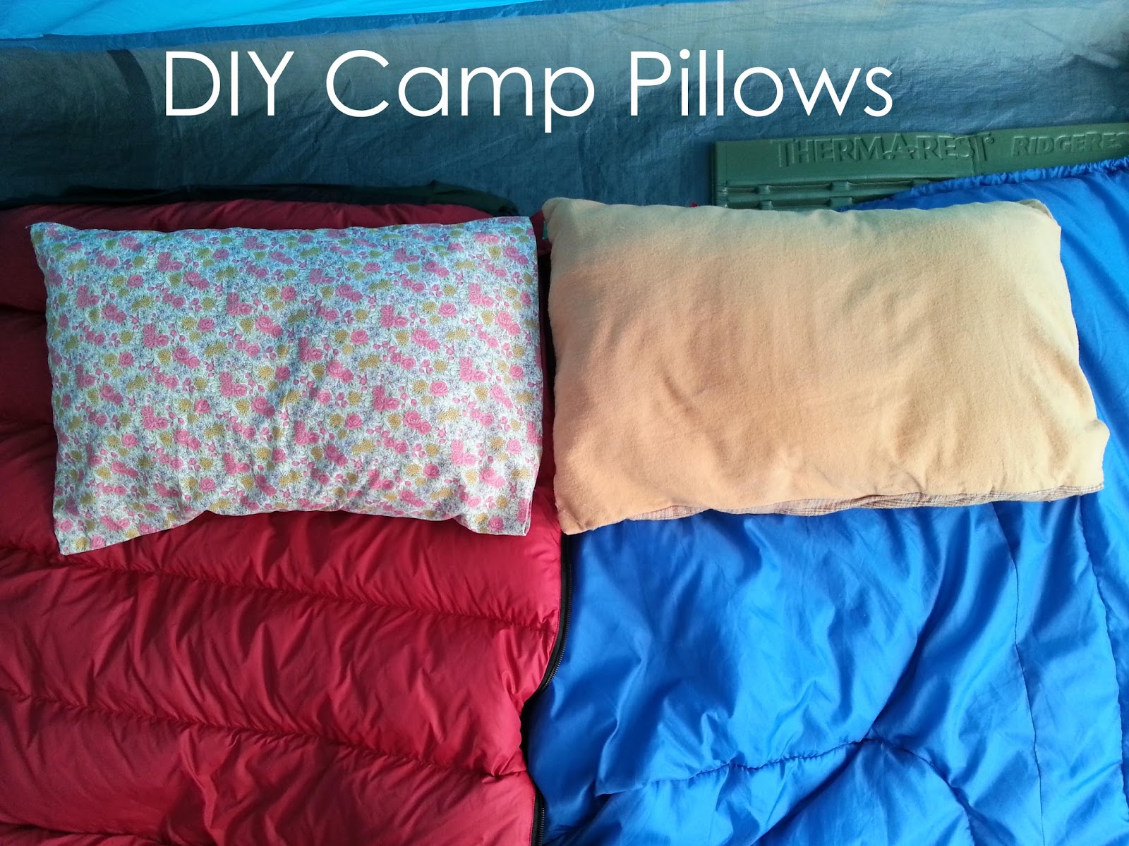 My Handmade Home DIY Camp Pillows with Envelope Enclosure