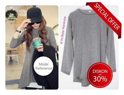 loose blouse korea lengan panjang baju impor korea murah