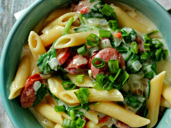 Recipe: Smoked Sausage Penne Pasta
