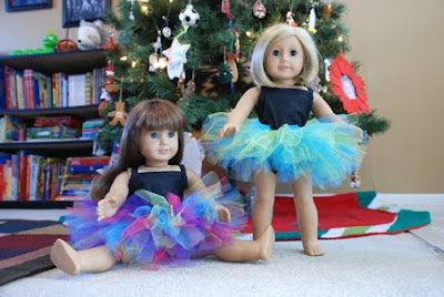 American girl doll tutu and leotard