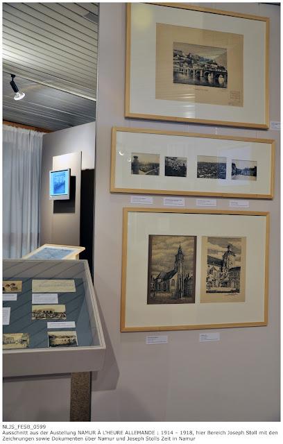 Ausschnitt Bereich Joseph Stoll in der Ausstellung NAMUR À L'HEURE ALLEMANDE : 1914 – 1918 in der Universitätsbibliothek Namur 09.09.2010