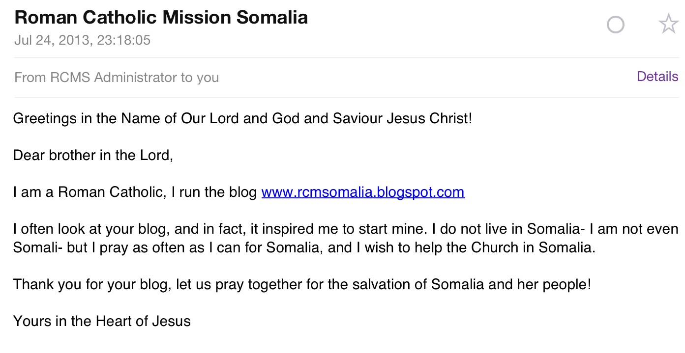 Somalis for jesus new blog on the block please visit roman catholic mission somalia m4hsunfo
