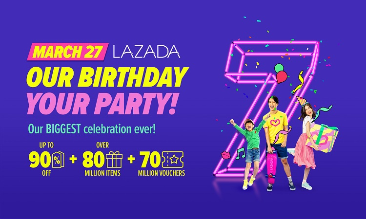Lazada Celebrates 7th Birthday with Biggest Online Shopping Party