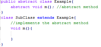 Java Abstract Methods