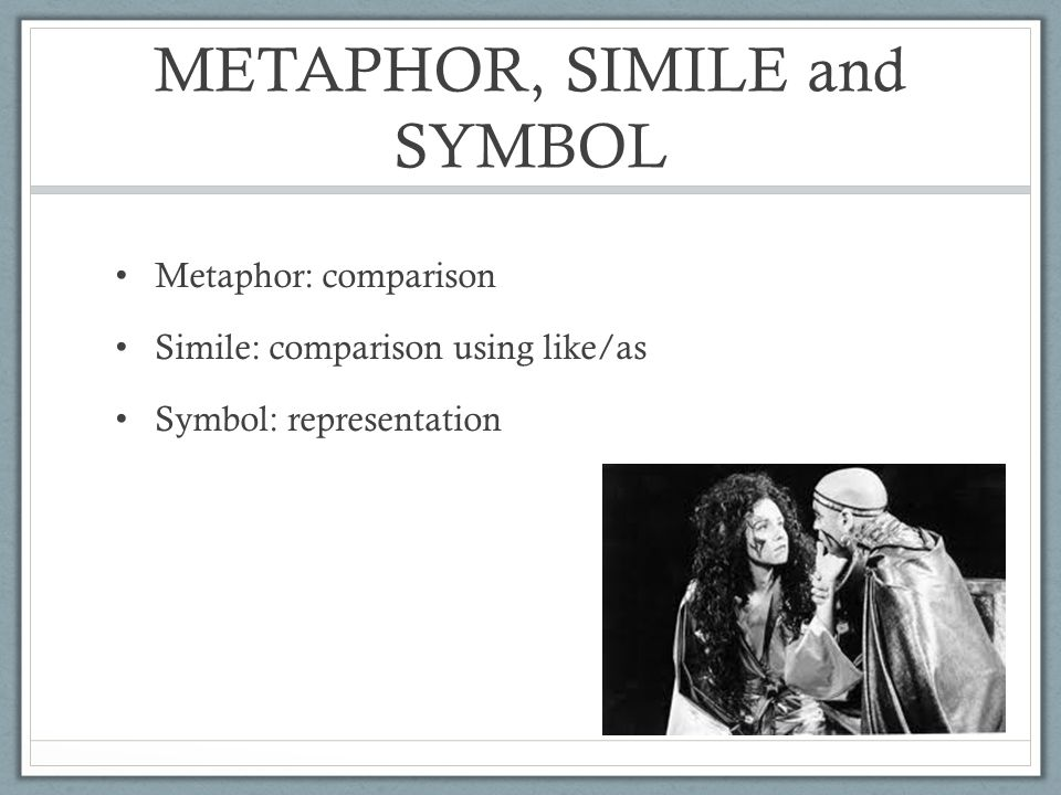 Methapor Simile And Symbols