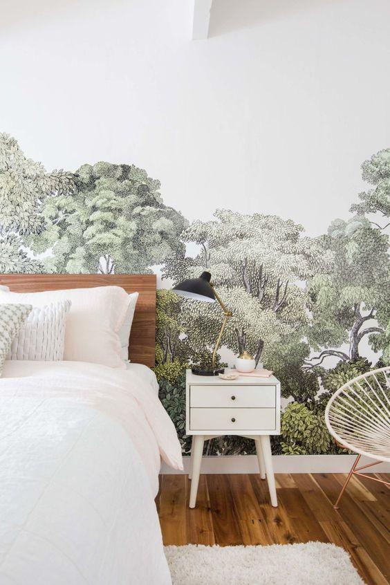 blog deco - papier peint chambre