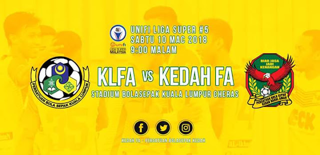 Live Streaming Kuala Lumpur vs Kedah 10.3.2018 Liga Super