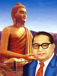 DR Ambedkar Photo with Buddha