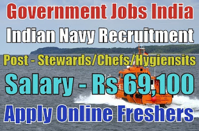 Indian Navy Recruitment 2018 for Various Stewards