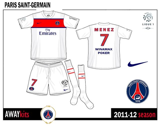 100% authentic ecfec 32c7d Ionut Football Kits: Paris Saint-Germain away kit 2011-12