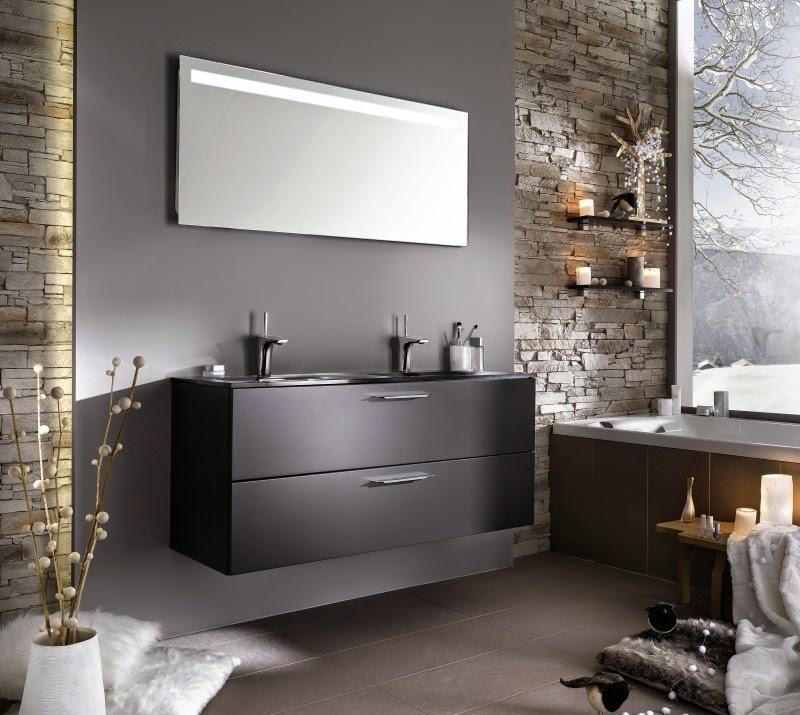 meuble salle de bain gris meuble d coration maison. Black Bedroom Furniture Sets. Home Design Ideas