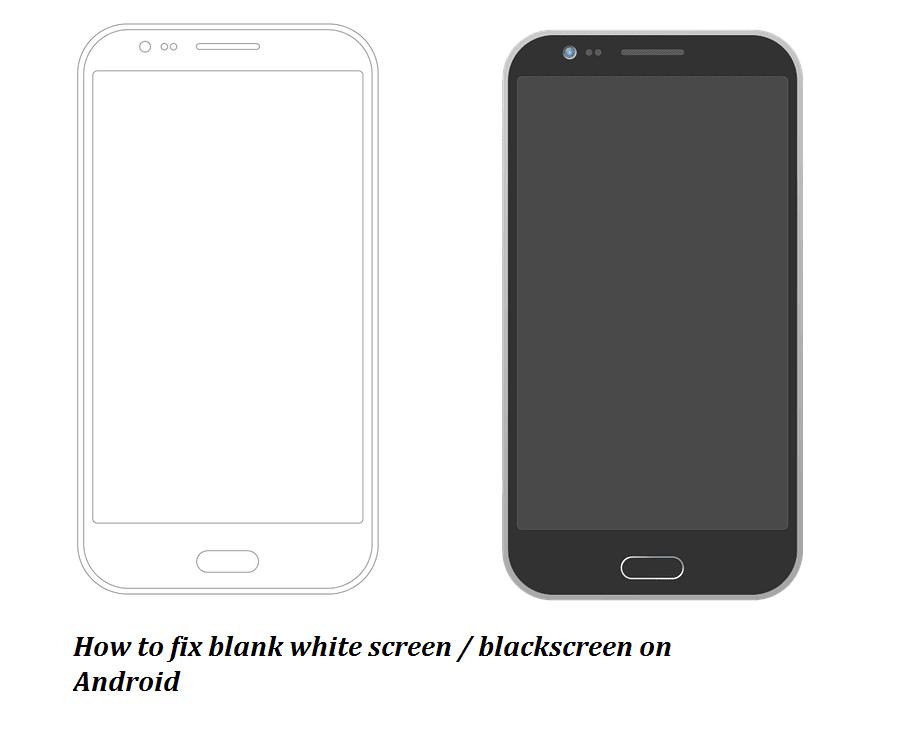 merupakan kondisi dimana HP Android tak mengeluarkan gambar sama sekali 5+ Tutorial Mengatasi Layar HP Android Blank Putih / Hitam Dan Penyebabnya