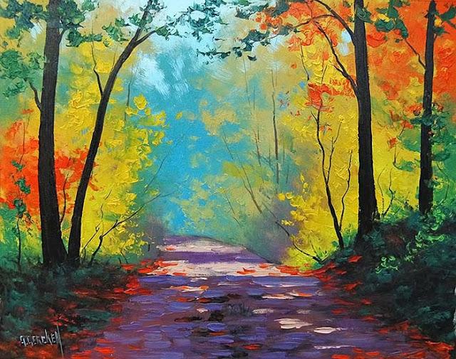 Late Fall Wallpaper Hd أجمل لوحات فنية مرسومة باليد عن الطبيعة في فصل الخريف