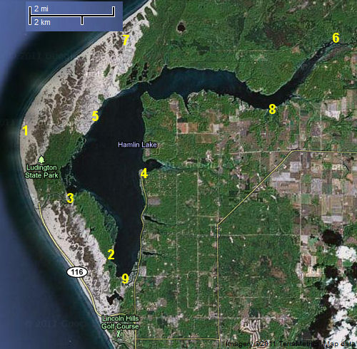 Hamlin Lake map