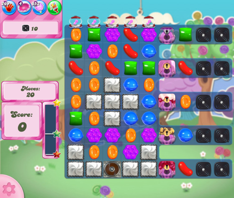 Candy Crush Saga level 2673