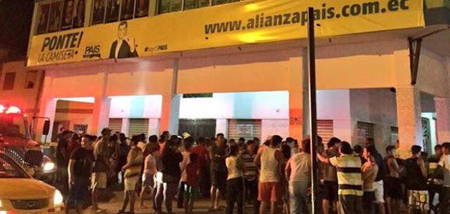 atentado alianza pais guayaquil