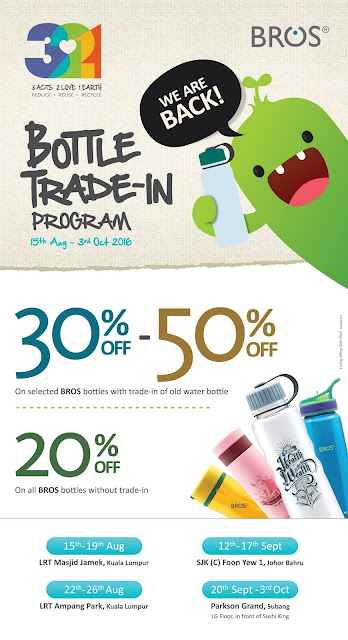 BROS WATER BOTTLE TRADE-IN PROGRAM DISCOUNT OFFER