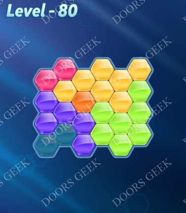 Block! Hexa Puzzle [Rainbow A] Level 80 Solution, Cheats, Walkthrough for android, iphone, ipad, ipod
