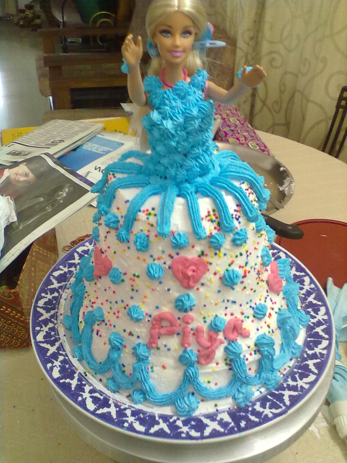 Princess Diaries Barbie Doll Cake Baketitude
