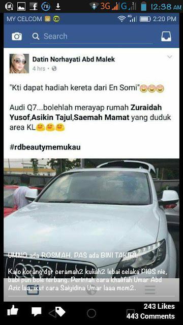 Isteri Kedua Ustaz Khairuddin Beli Kereta Audi