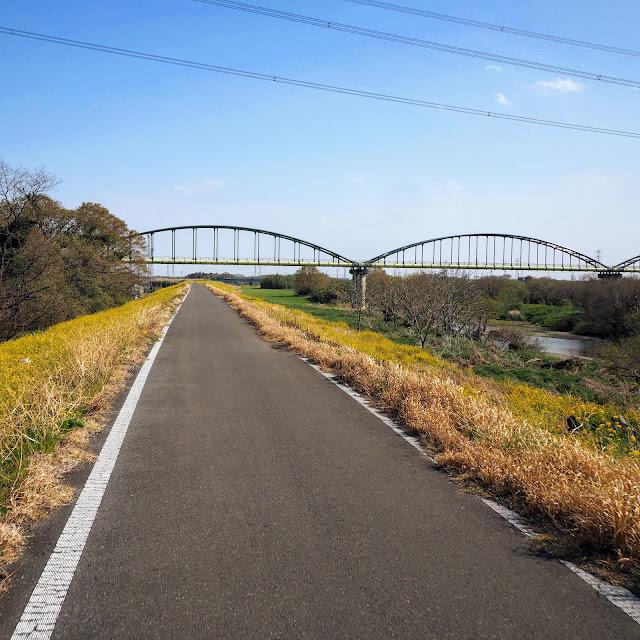 越辺川 水管橋