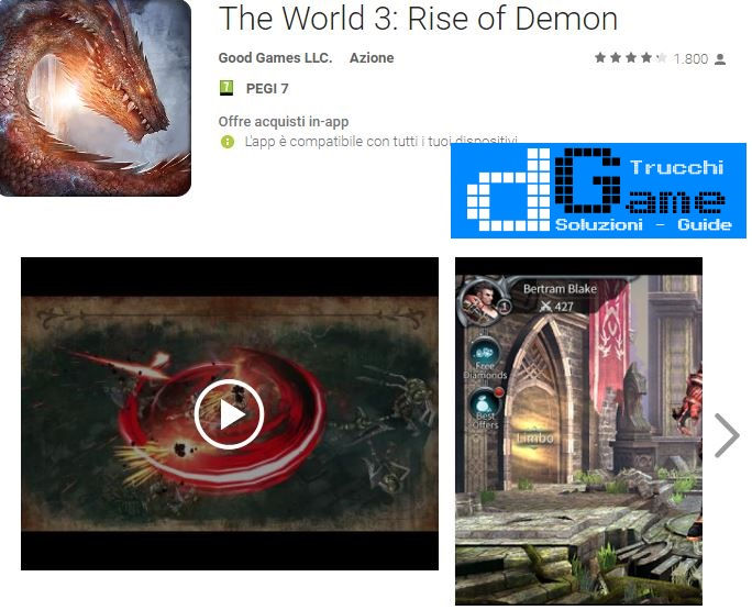 Trucchi The World 3: Rise of Demon Mod Apk Android v1