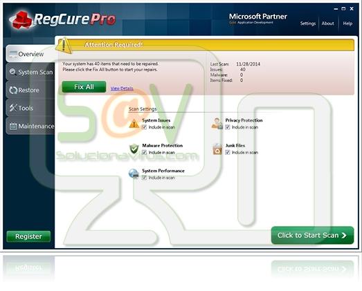 RegCure Pro (Falso optimizador)