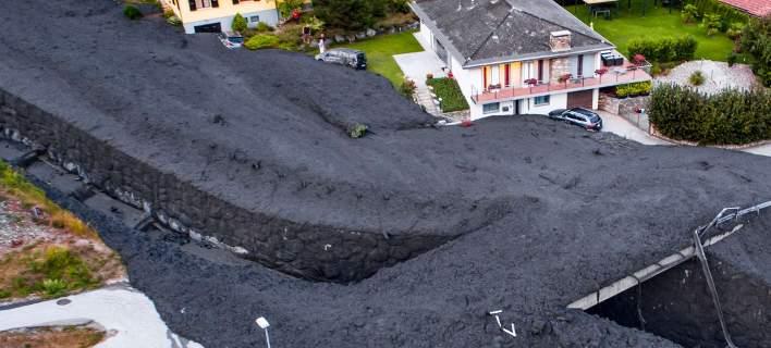 Κατολίσθηση λάσπης σαρώνει χωριό στην Ελβετία [βίντεο]