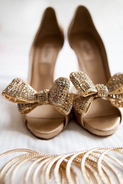 Gorgeous shoes with sparkly bows