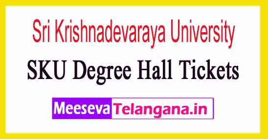 SKU Degree Hall Tickets 2018 Sri Krishnadevaraya University