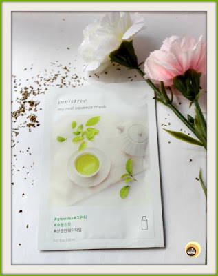 Innisfree My Real Squeeze Mask Green Tea Review and NBAM Photography