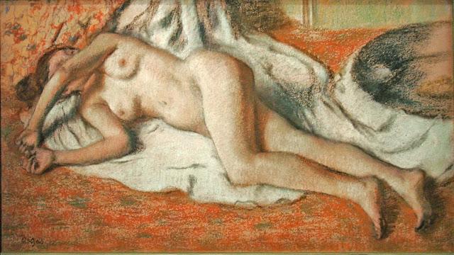 Edgar Degas - bagnante distesa - erotismo - arte