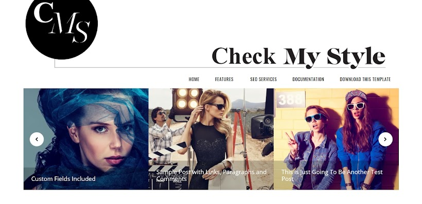 Check My Style Free Blogger Template
