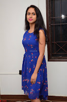 Pallavi Dora Actress in Sleeveless Blue Short dress at Prema Entha Madhuram Priyuraalu Antha Katinam teaser launch 065.jpg