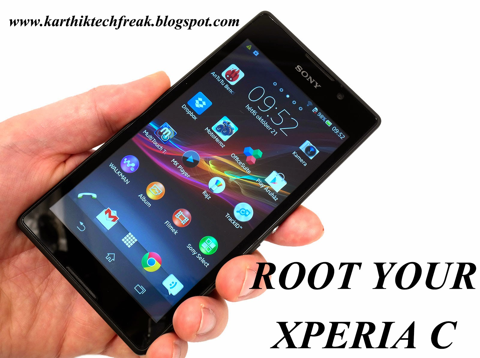 application root xperia