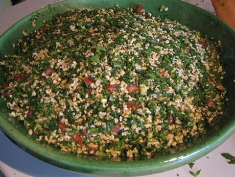 Taboule: peterseliesalade met bulgur