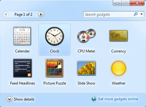 how to install gadgets in windows vista