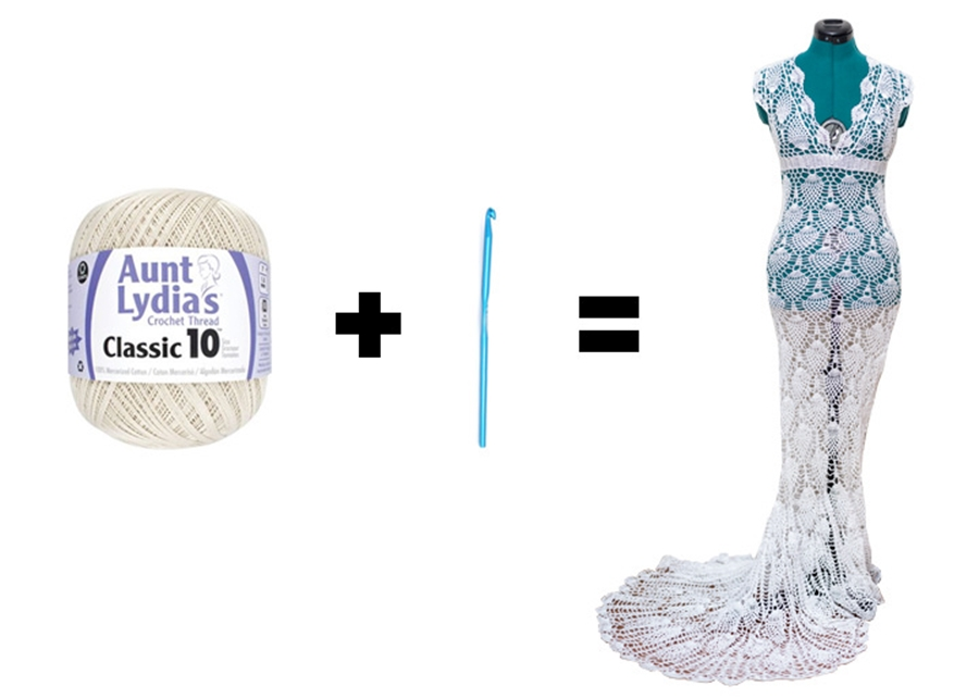 Vestido de noiva de crochet
