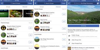 """Facebook thử nghiệm tính năng """"khám phá"""" Group"""